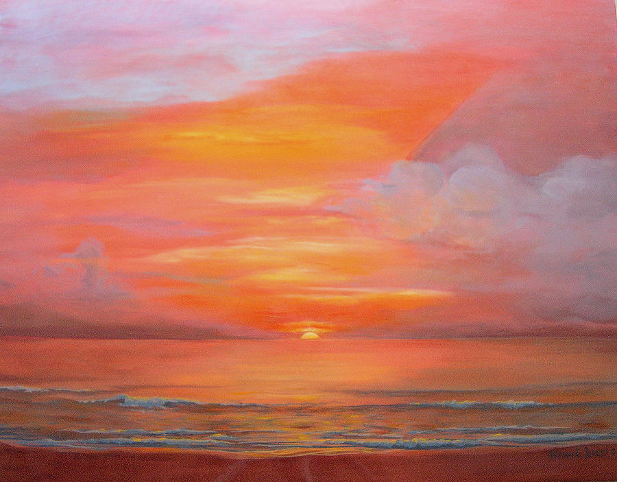 Oil Paintings Fine Sunrise