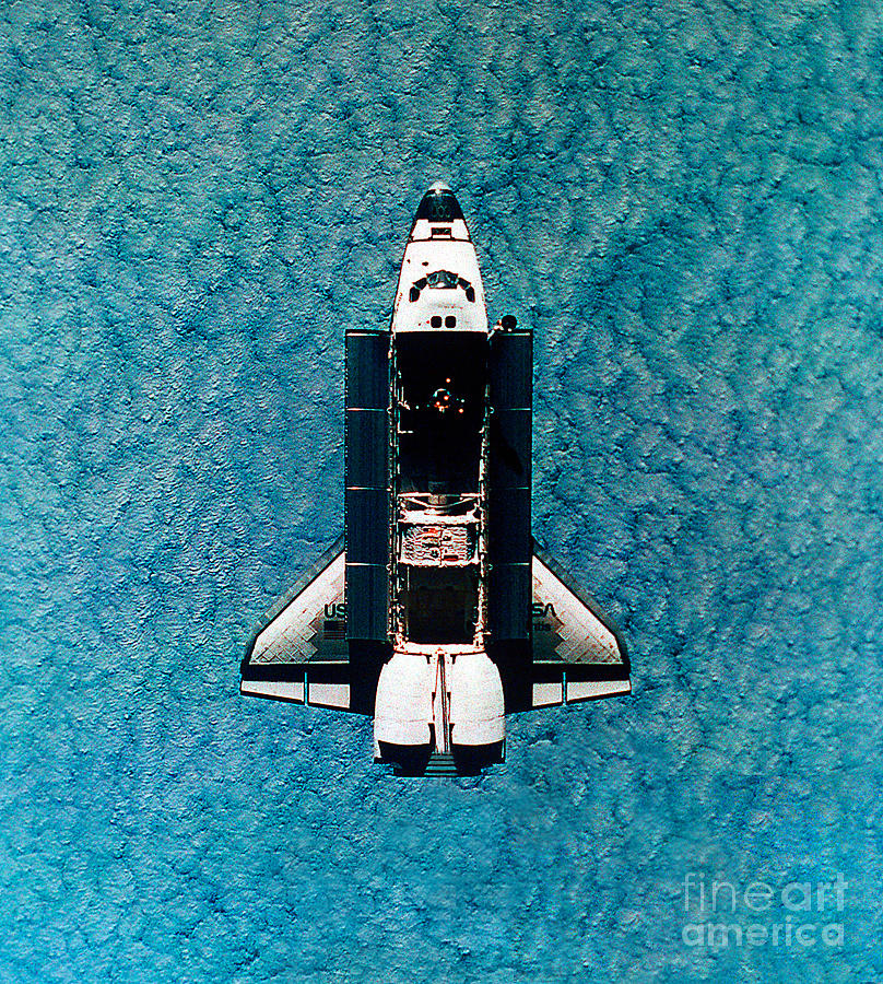 Astronomy Photograph - Atlantis Space Shuttle by Science Source