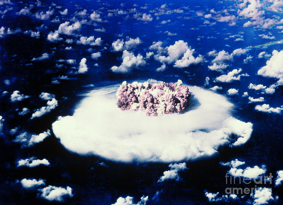 Explosion Photograph - Atomic Bomb Test Cloud by Science Source