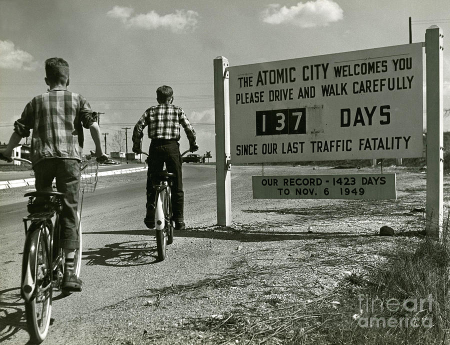 Atomic Photograph - Atomic City Tennessee in the Fifties by Tom Hollyman and Photo Researchers