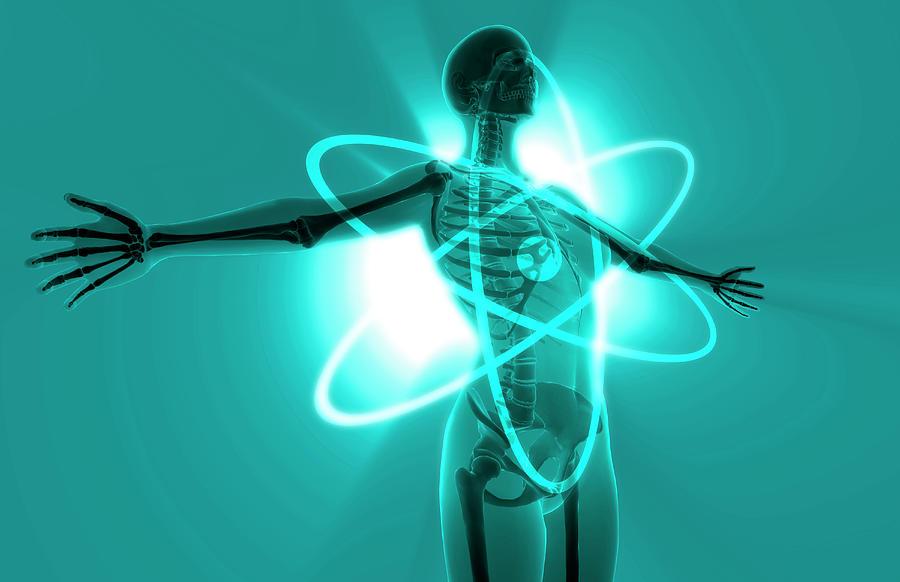 Horizontal Digital Art - Atomic Woman by MedicalRF.com