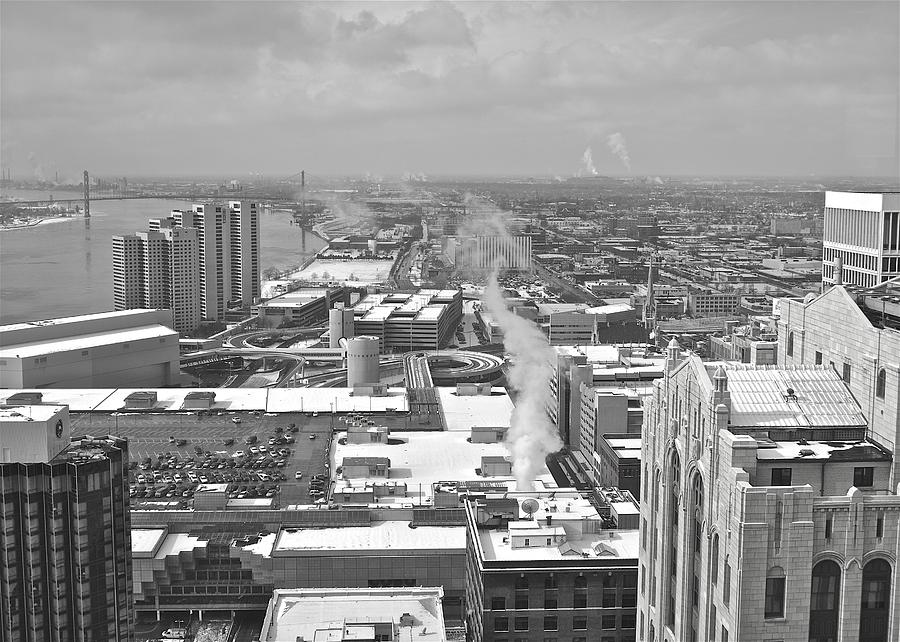 Detroit Photograph - Atop The Guardian  by Michael Peychich