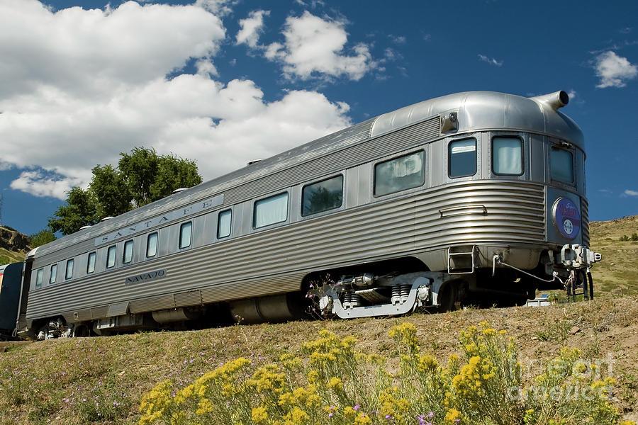 Atsf Photograph - Atsf Train And Flowers by Tim Mulina