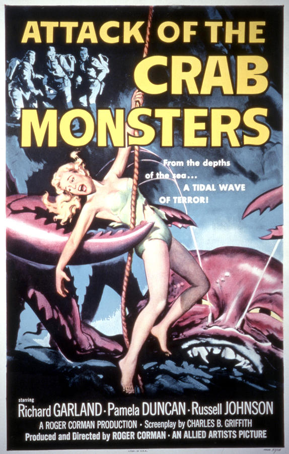 1957 Movies Photograph - Attack Of The Crab Monsters, Poster by Everett