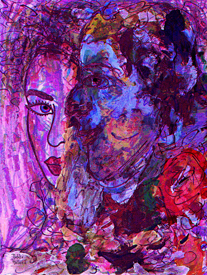Expressionism Mixed Media - Attraction by Natalie Holland