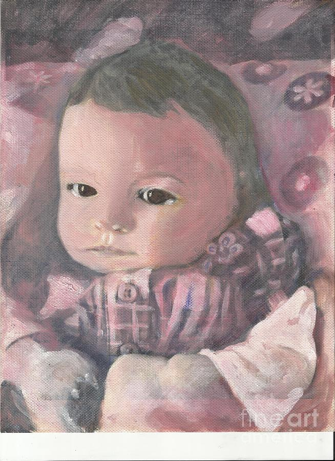 Baby Painting - Aubrey by Lyn Vic