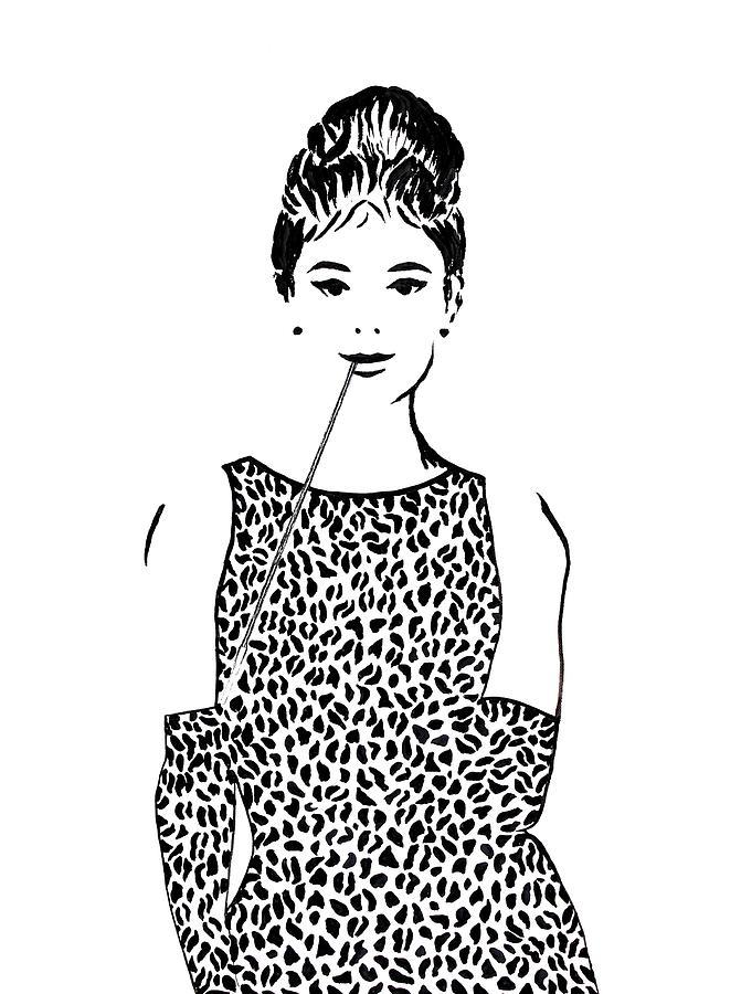 Audrey Hepburn Painting by Georgeta  Blanaru