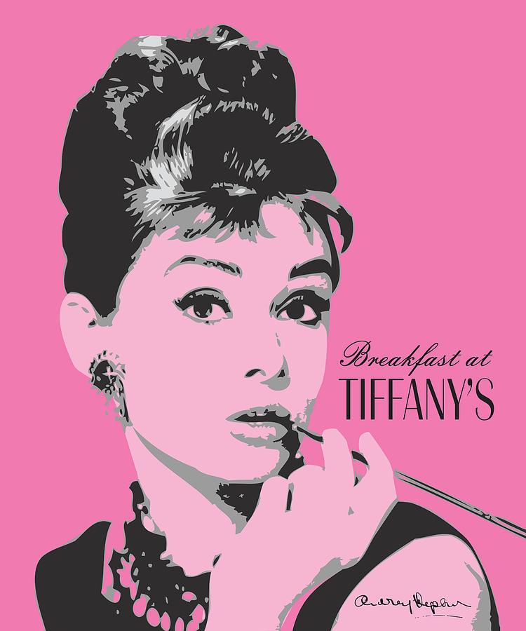 Audrey Hepburn - Pop Art Portrait Digital Art by Martin Deane