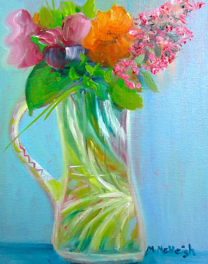 August Painting - August Bouquet by Marita McVeigh