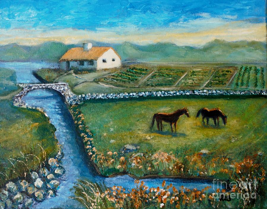 Connemara Painting - August Evening In Connemara by Rita Brown