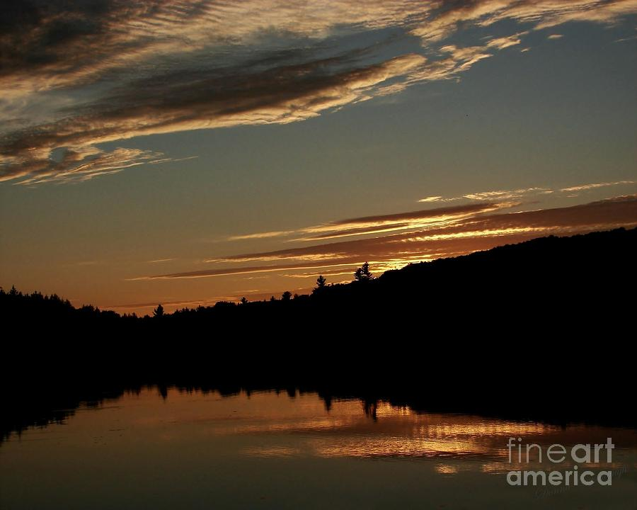Hunter Photograph - August Lake Sunset by Donna Cavanaugh
