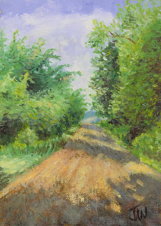 Trees Painting - August Lane by Joe Winkler