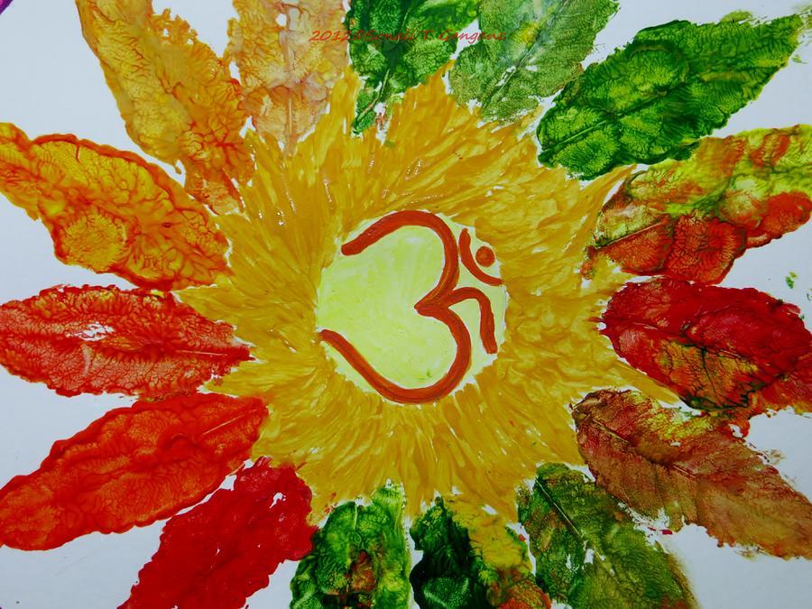 Focal Point Painting - Aumkar Mandala by Sonali Gangane