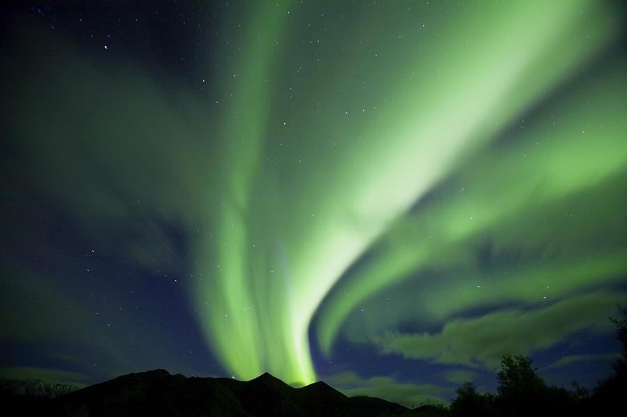 Color Image Photograph - Aurora Borealis, Tombstone Territorial by John Sylvester