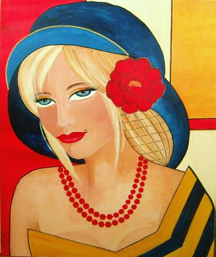 Fine Art Painting - Aurora by Camelia Apostol