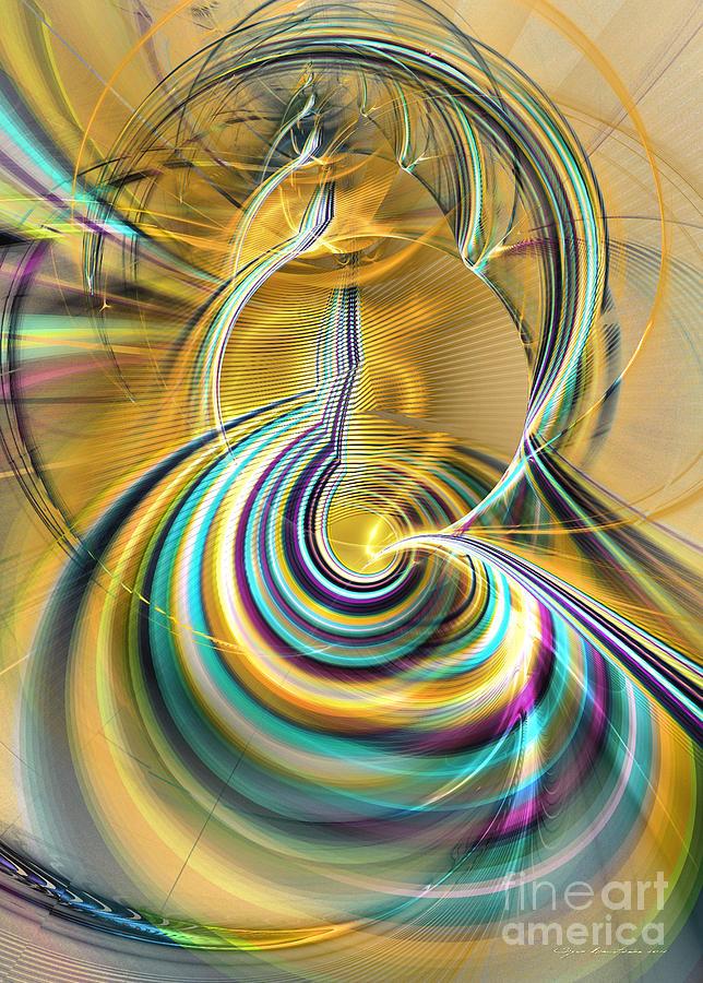 3-d Digital Art - Aurora Of Yellowness by Sipo Liimatainen