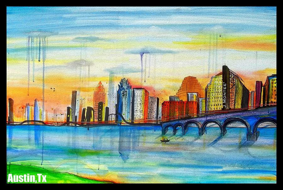 Austin Texas Painting by Jose J Montee Montejano