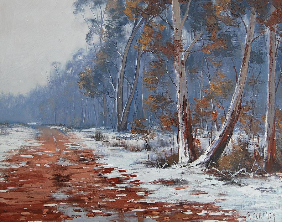 australian winter painting by graham gercken. Black Bedroom Furniture Sets. Home Design Ideas