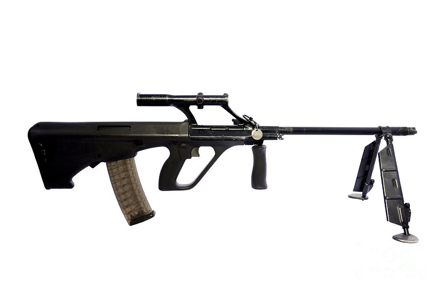 No People Photograph - Austrian 5.56mm Steyr Aug Light Support by Andrew Chittock
