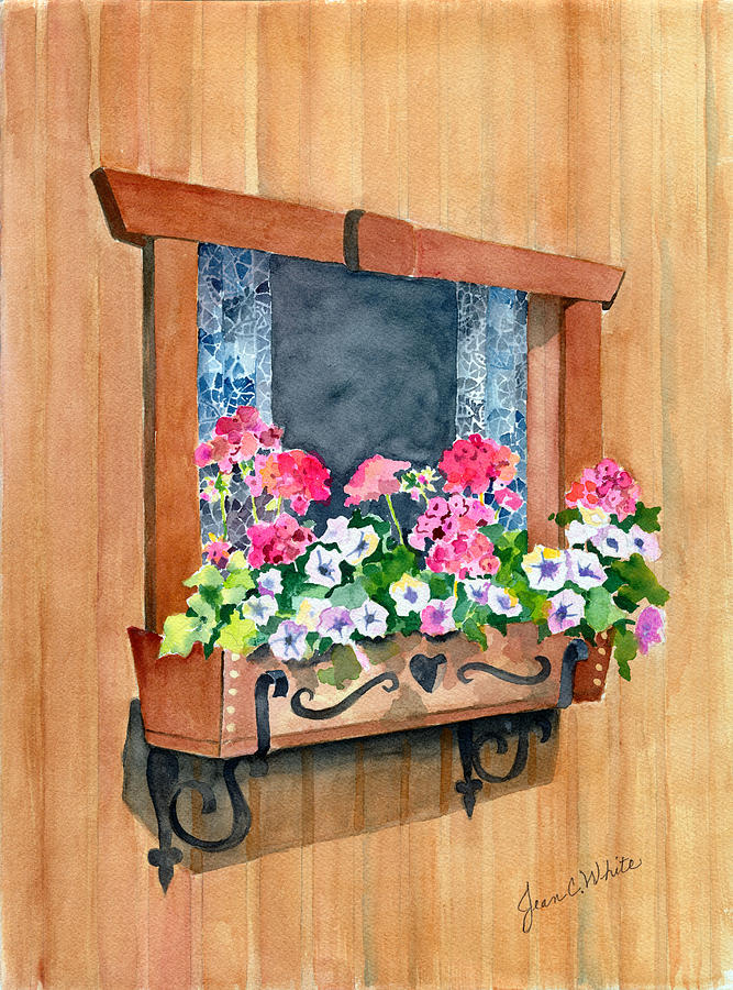 Europe Painting - Austrian Window by Jean White