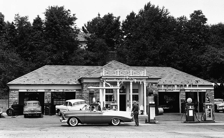 Adults Only Photograph - Auto At Gas Station by George Marks
