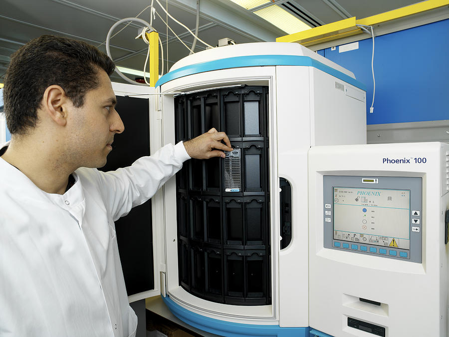 Machine Photograph - Automated Blood Bacteria Tests by Tek Image