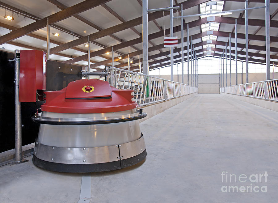 Agricultural Photograph - Automated Feed Pusher by Jaak Nilson