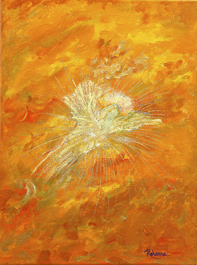 Light Painting - Autum Angel by Judy M Watts-Rohanna