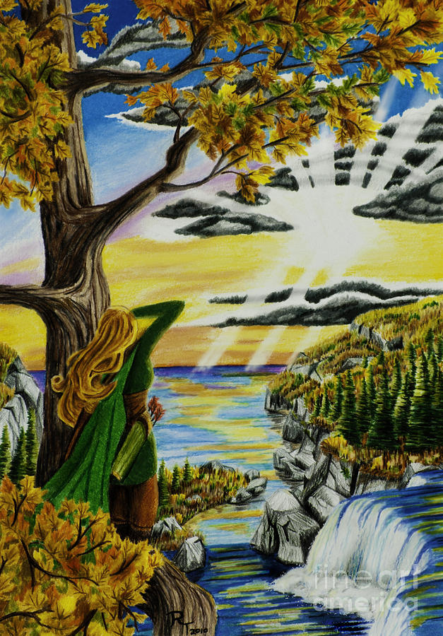 Traditional Drawing - Autumn Archer by Robert Thornton