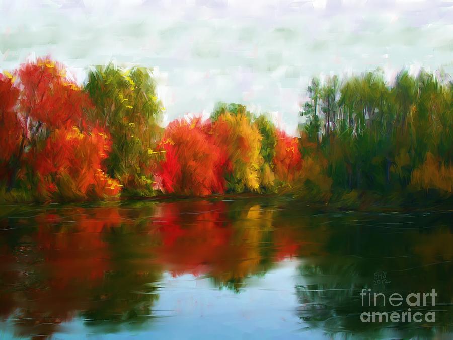 New England Painting - Autumn Blaze by Earl Jackson