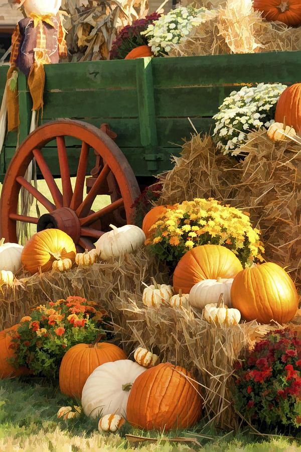 Buzz Photograph - Autumn Bounty Vertical by Kathy Clark