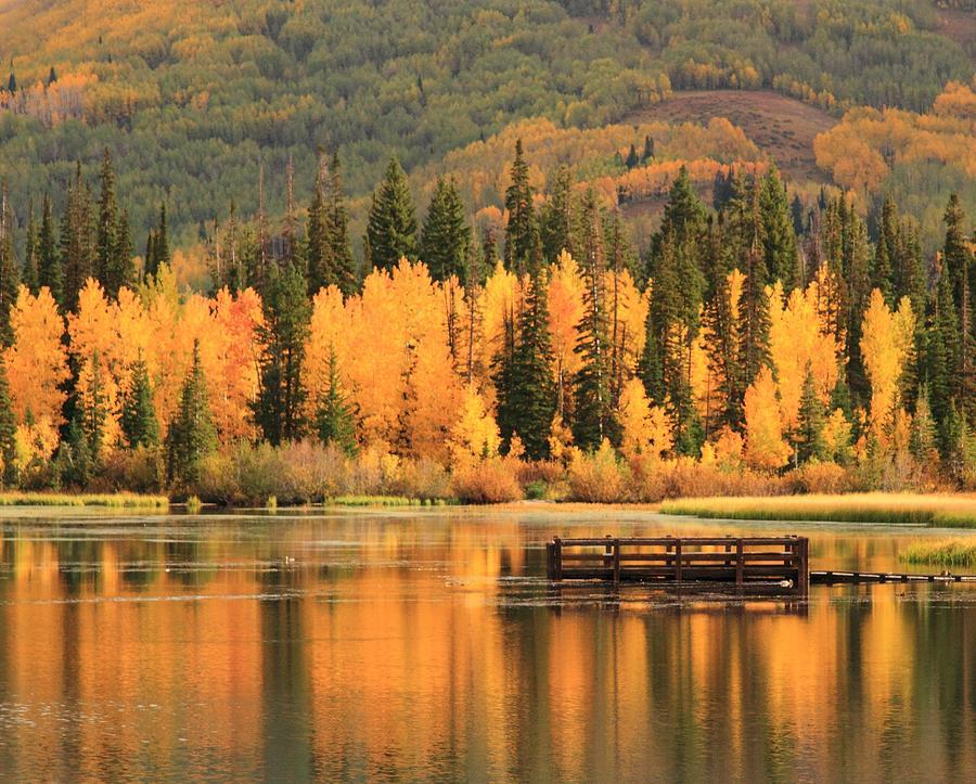 Autumn Photograph - Autumn Calm by Gene Praag