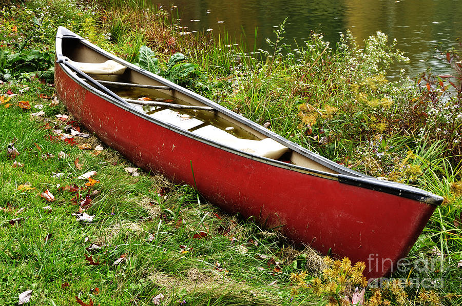 Canoe Photograph - Autumn Canoe by Thomas R Fletcher