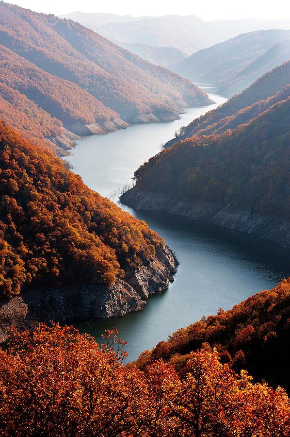 Vertical Photograph - Autumn Creek by Mavroudakis Fotis Photography