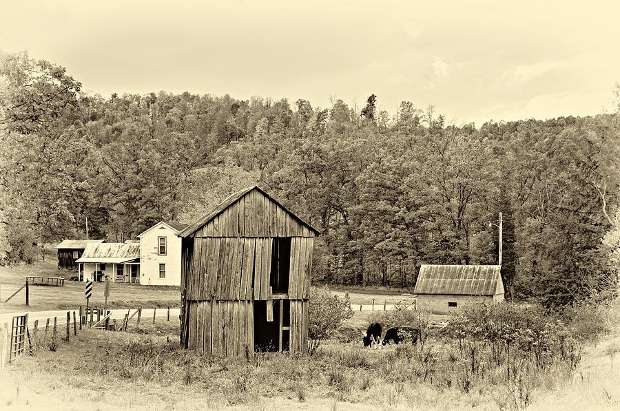 West Virginia Photograph - Autumn Farm Sepia by Steve Harrington