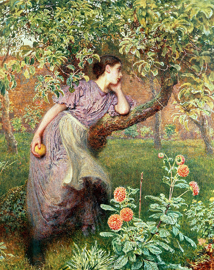 Lady Painting - Autumn by Frederick Walker