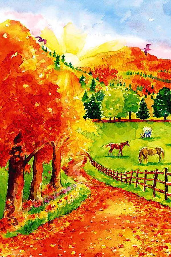 Autumn Painting - Autumn Graze by Sloane FinneganAllen