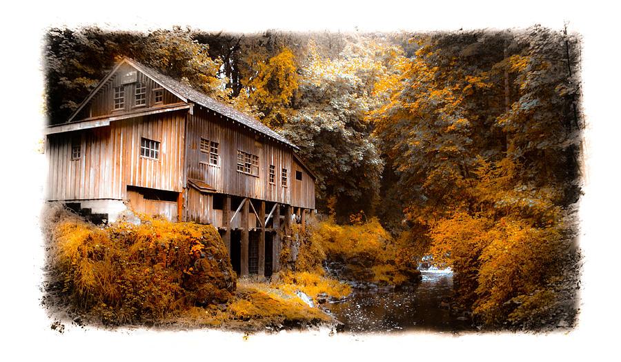 Antique Photograph - Autumn Grist by Steve McKinzie
