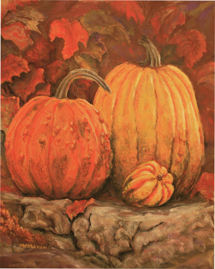 Landscape Painting - Autumn Harvest by Peggy McMahan