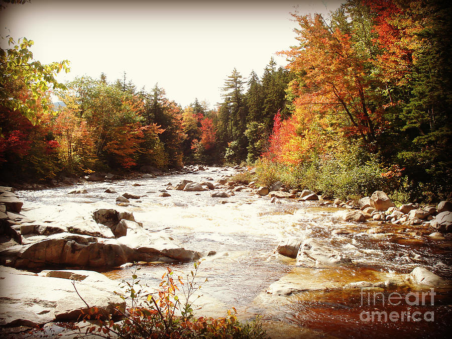 Landscape Photograph - Autumn In New Hampshire by Crystal Joy Photography