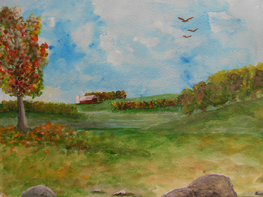 Sky Painting - Autumn In New York by Barbara McNeil
