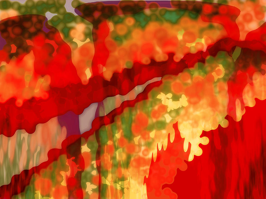 Abstract Digital Art - Autumn In The Piedmont by Patricia L Conklin