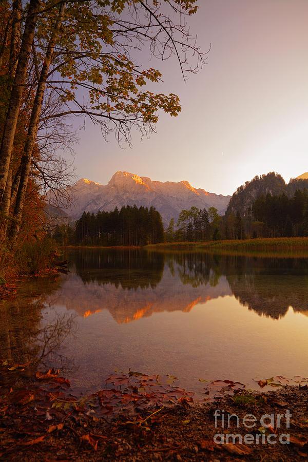 Austria Photograph - Autumn Lake by Silvio Schoisswohl