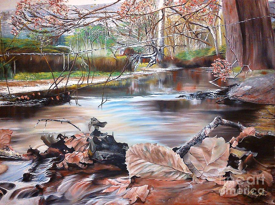 Autumn Leaves Painting by Morney Hans