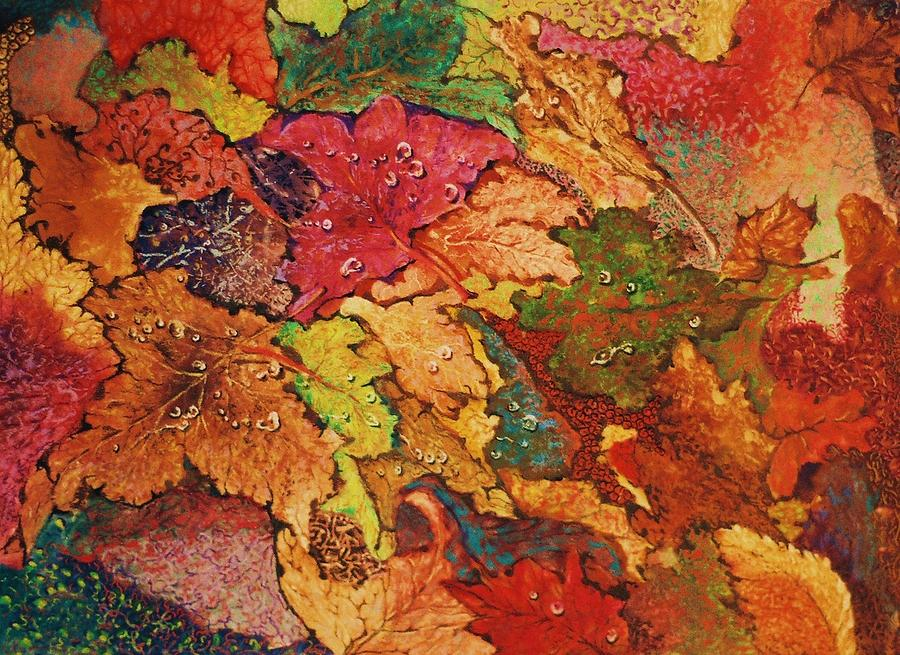 Nature Mixed Media - Autumn Leaves by Terry Jackson
