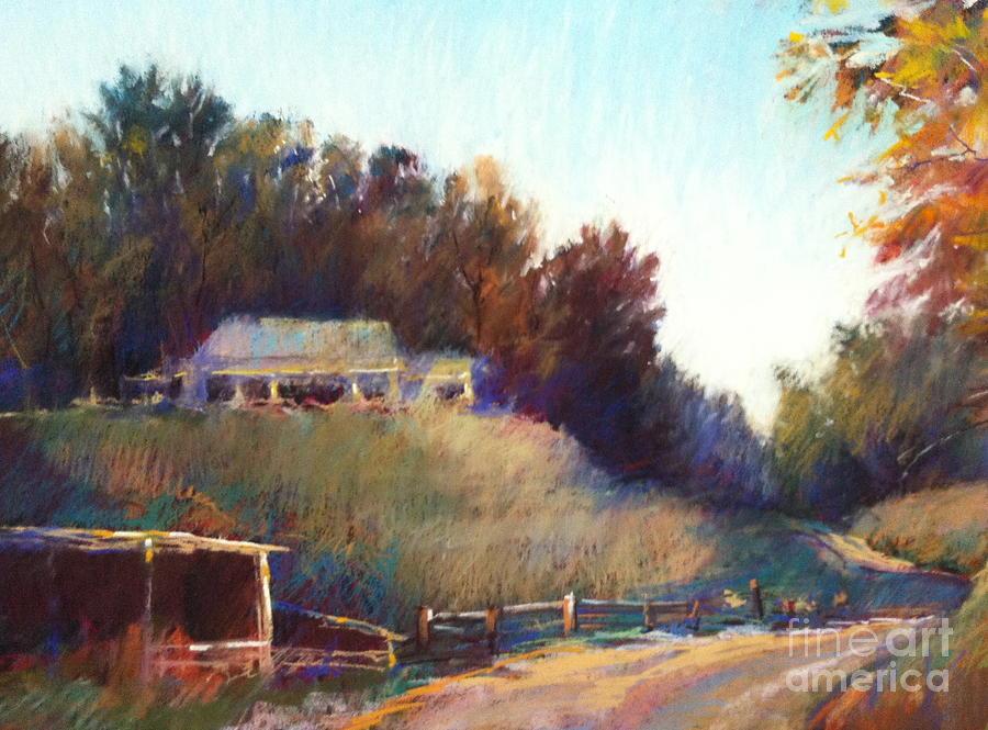 Pastel Landscape Painting - Autumn Light by Pamela Pretty