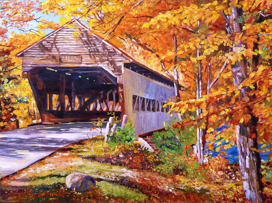 Landscape Painting - Autumn Love Story by David Lloyd Glover