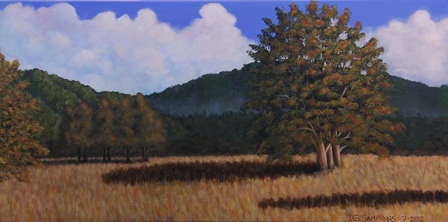 Landscapes Painting - Autumn Meadow by Janet Greer Sammons