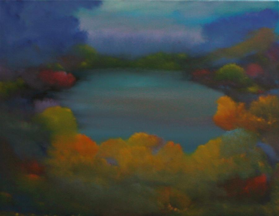 Landscape Painting - Autumn Mist by David Snider