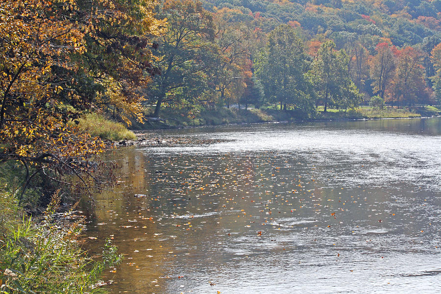 Autumn River Photograph - Autumn On The River by Darlene Bell